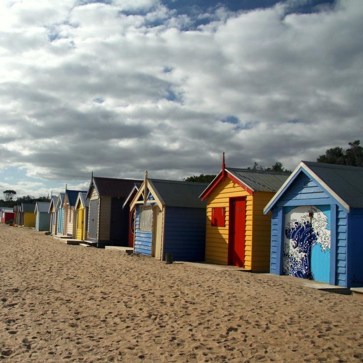 St Kilda beach cabins, Melbourne