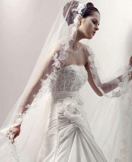 Wedding Veils Beautiful Bride Veil 2017 Soft Tulle Velo De ... |Beautiful Wedding Gowns With Veils