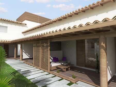 Casa colonial moderna pesquisa google arquitectura for Casas estilo colonial moderno