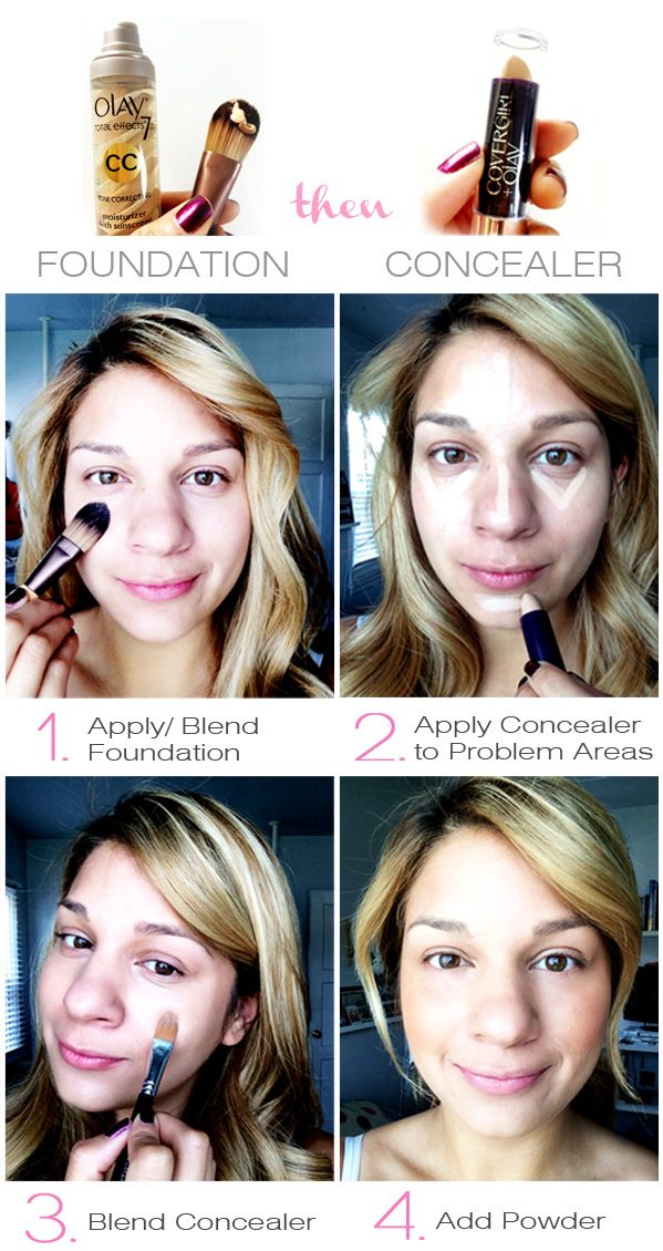 How to get flawless skin: I use Olay total effects 7 (great for sensitive skin) before I apply my Covergirl + Olay concealer balm. #PGBestForMe