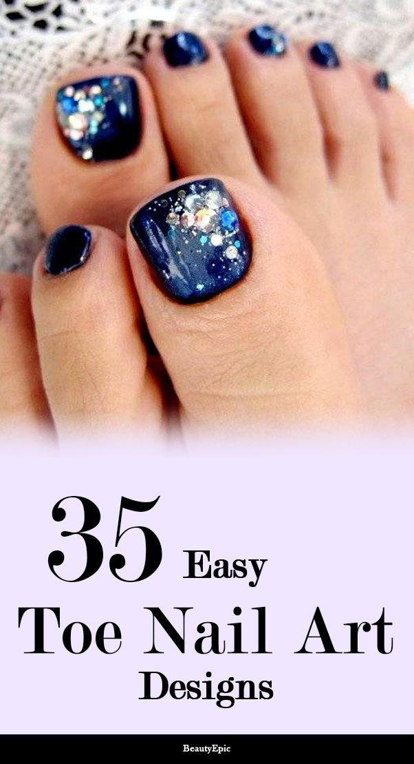 35 Simple and Easy Toe Nail Art Design Ideas You Can Try Out