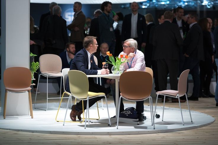 RBM Noor chairs at the Stockholm furniture fair #design #event #Scandinavia  #InspireGreatWork #furniture