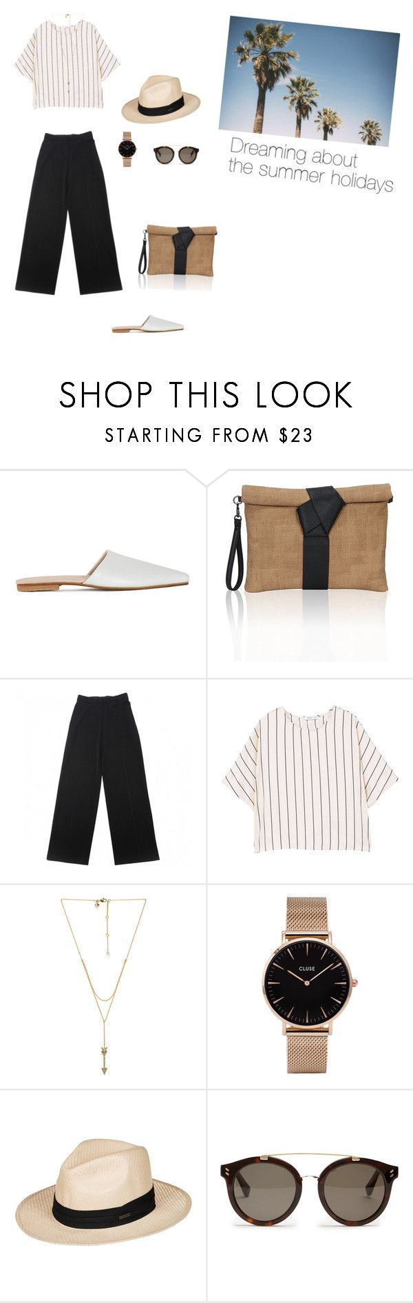 """""""Can't wait the summer holidays"""" by dorey on Polyvore featuring Brother Vellies, Yves Saint Laurent, MANGO, Rebecca Minkoff, CLUSE, Roxy and STELLA McCARTNEY"""