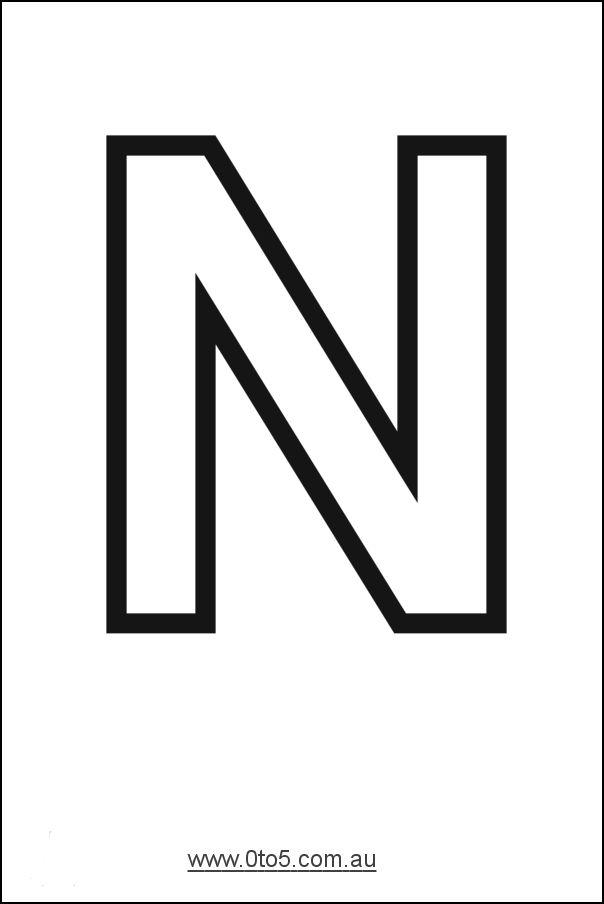 Images The Letter N Letter N N Nn Coloring