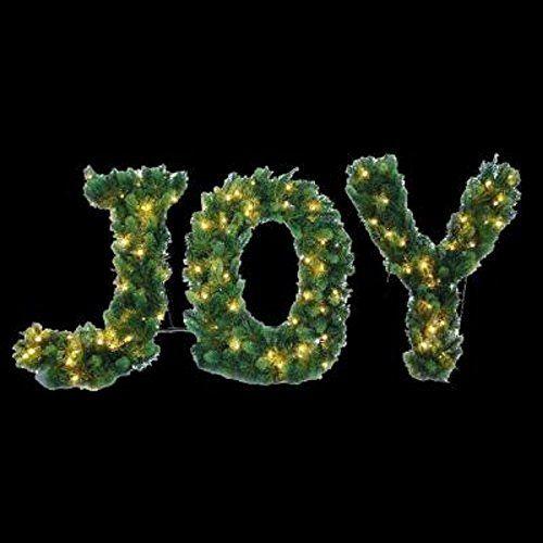 PreLit LED Lighted Joy Shape Artificial Christmas Tree Decor 24 T X 36 W * For more information, visit image link.