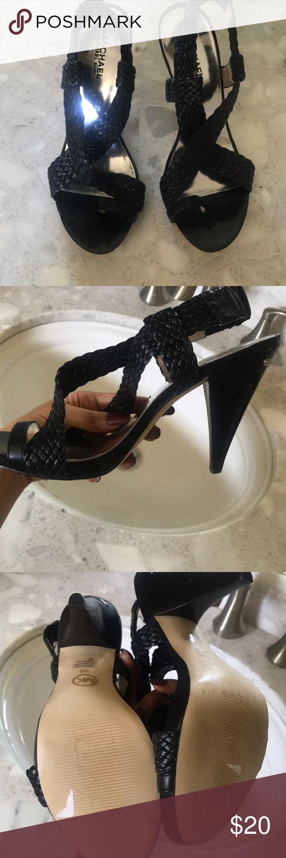Women's never been worn Michael Kors heels! Black sandals can dress up or down Michael Kors Shoes Heels
