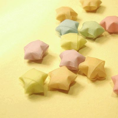 Origami Lucky Star Instructions - something to do with those leftover strips of wrapping paper.
