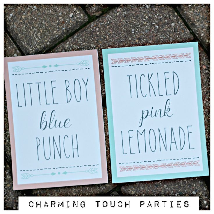 Gender Reveal Party Beverage Signs. Bows or Arrows. Tribal / Aztec / boho gender reveal decor. Two 5x7 signs, professionally printed. by CharmingTouchParties on Etsy