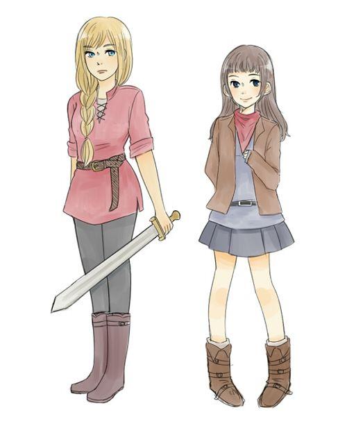 Tumblr source: stelasdt   Merlin GenderBend.... The Princess and her maidservant :)