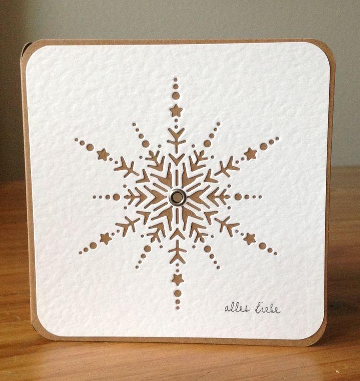 Die Schlichte Karte Dazzling Snowflake Neue Stanze Von Memory