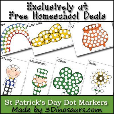 Free St. Patrick's Day Worksheets: Dot Marker Printables