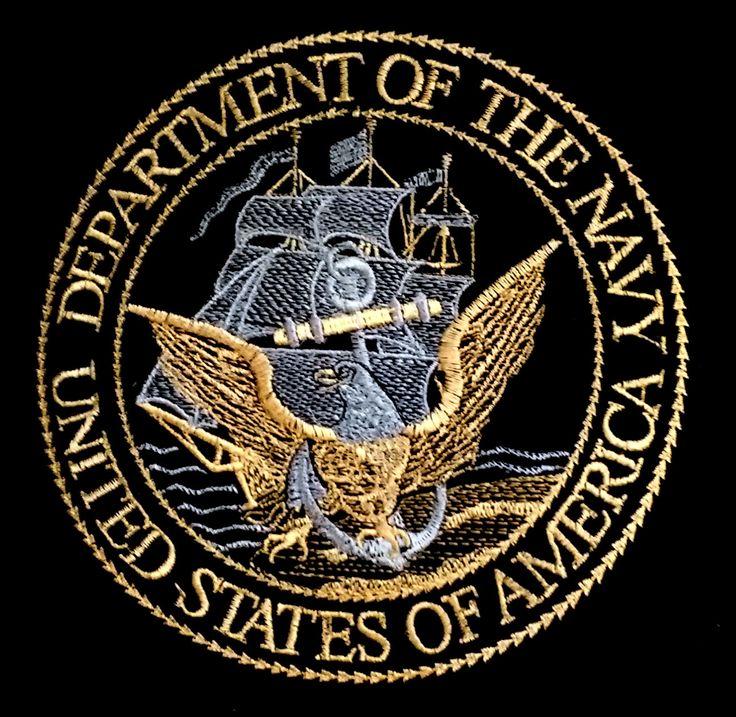 Embroidered Navy Emblem by threadsbyj on Etsy