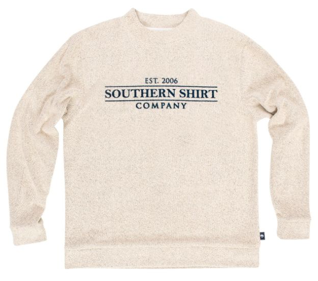 Southern Shirt Company Loop Knit Terry Pullover- Pebble