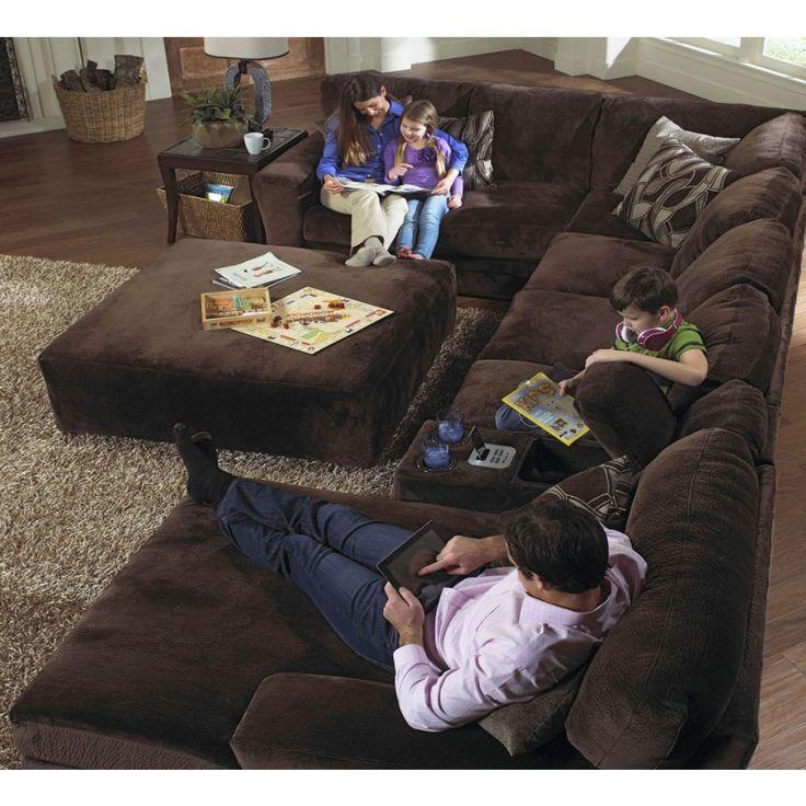Jackson Everest 4 Piece Plush Sectional Sofa Set 4377 62