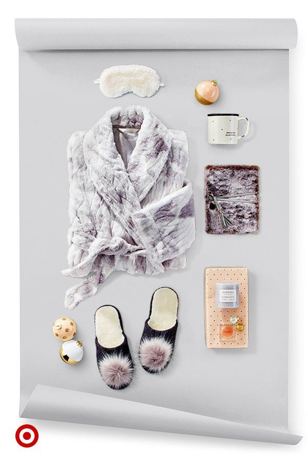 Gift a sweet retreat to your BFF with an eye mask, fuzzy robe, furry journal & more.