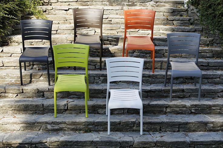 Sitzgruppe DIAMOND GARDEN Kingston Bistronset Weiß Aluminium Gartenmöbel  Stuhl Kingston   Ohne Armlehnen Es Gibt
