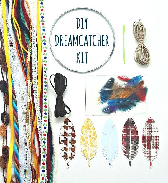 Do It Yourself Dream Catcher Craft Kit. The Birthday Gift of