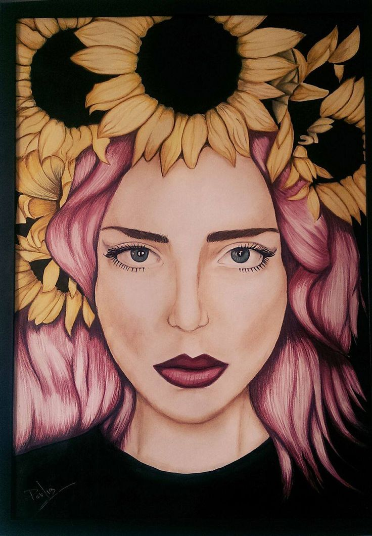 Queen of Sunflowers #sunflower #flowers #pencils #drawing