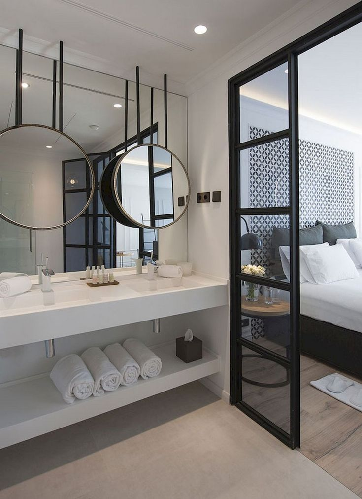 59 Marvelous Open Bathroom Concept For Master Bedrooms Decor Ideas Open Badkamer Badkamer In Slaapkamer Badkamer En Suite