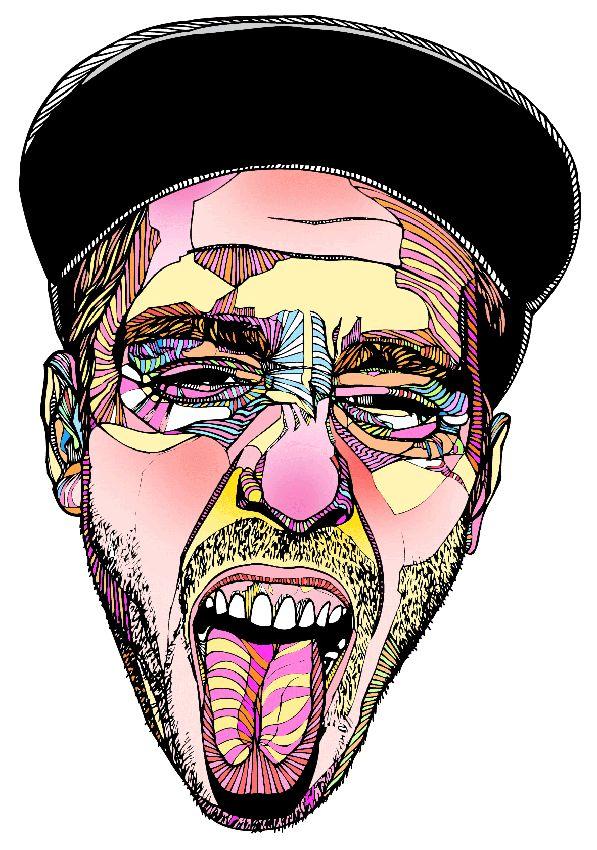 The Tongue - Colour - Luke Dixon Artist #print #illustration #portrait