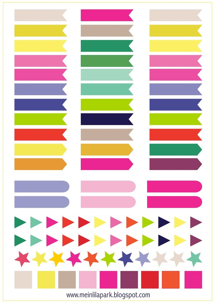 FREE printable calendar planner flags & markers