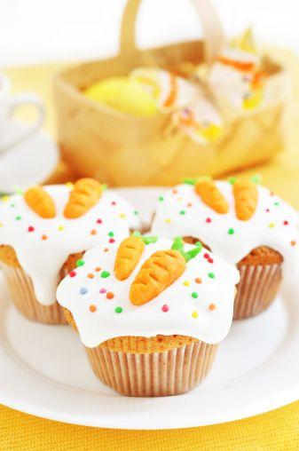 Carrot and orange cupcakes  Cupcake alla carota e arancia.  www.tortealcioccolato.com