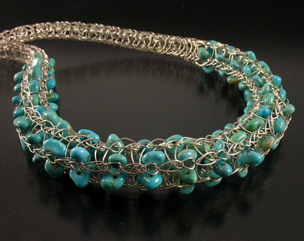 JanRa Jewelry -- Silver and Gold Wire Viking knitting, Weaving, and Braiding by Jan Raven
