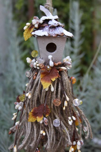 decorative tassel birdhouse first snow (sold)