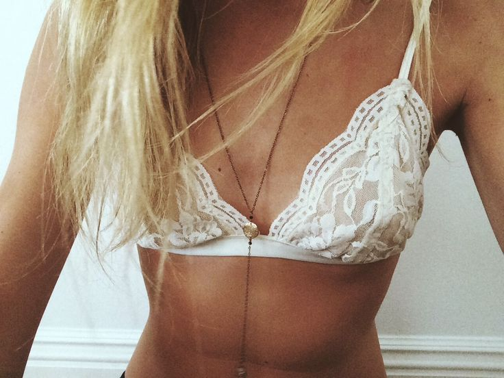 Lounge all day in this pretty lace bralette