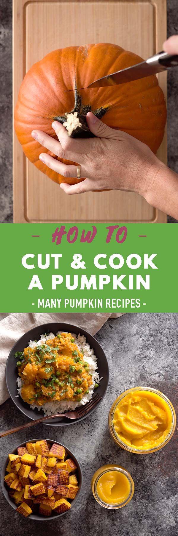 Wie man einen Kürbis schneidet, wie man Kürbis kocht oder brät und köstliche Kürbisrezepte …   – Recipes