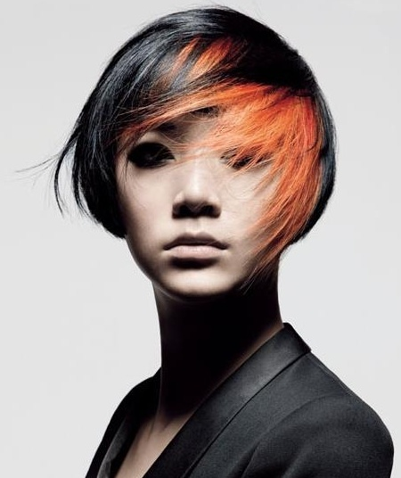 #hair #orangehair #shorthair. This is actually sort of cool! If I were going to be in a movie and it was all post-apocalyptic action-packed, I would want to look cool with awesome hair like this!