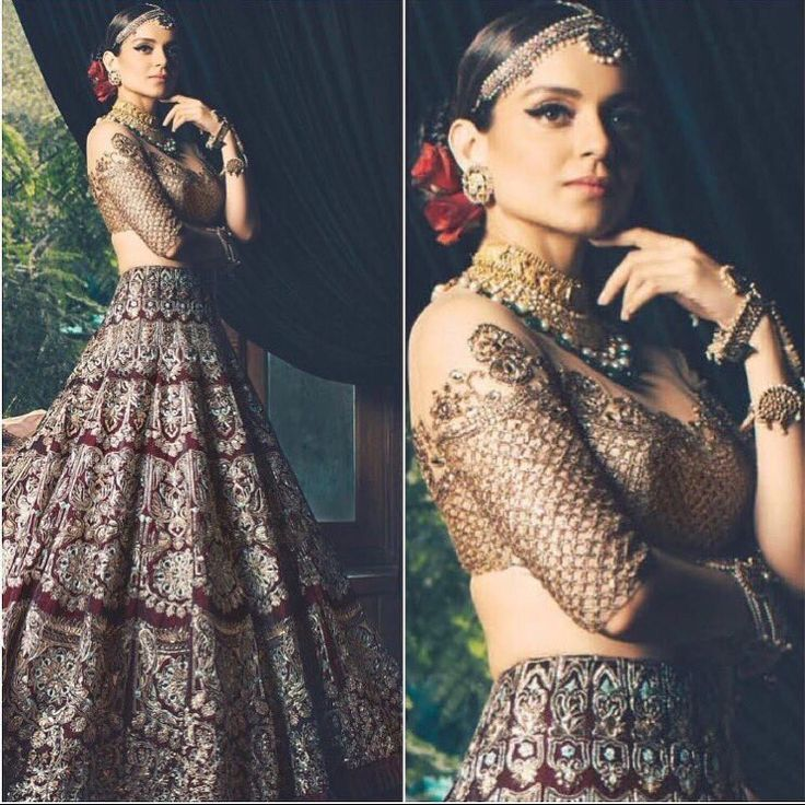 Kangana Ranaut looking beautiful as beautiful can get for Manish Malhotra