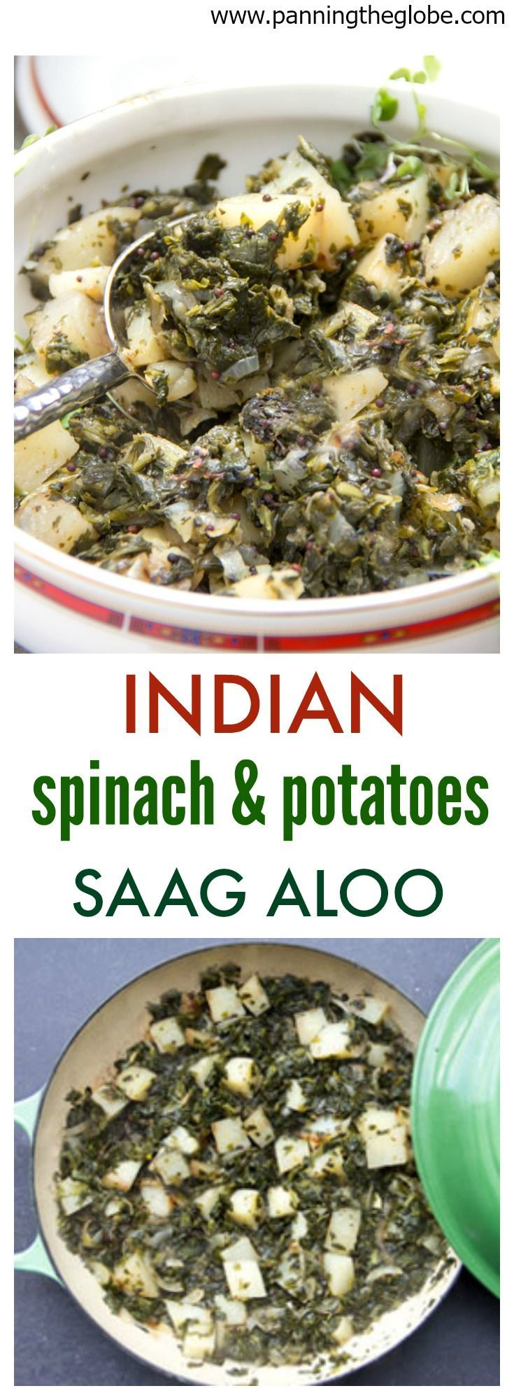 Saag Aloo: Indian Spinach and Potatoes