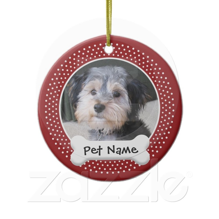 Personalized Dog Photo Frame - SINGLE-SIDED Christmas Ornaments from Zazzle.com