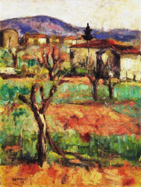 Ardengo Soffici (Italian, 1879-1964) - Tramonto sulla campagna toscana, 1923