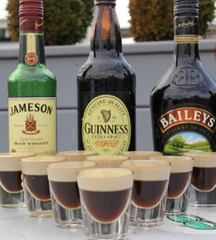 and yet another recipe for Irish Cream jello shots (luckily there will be quite a few folks to try the different test batches!)