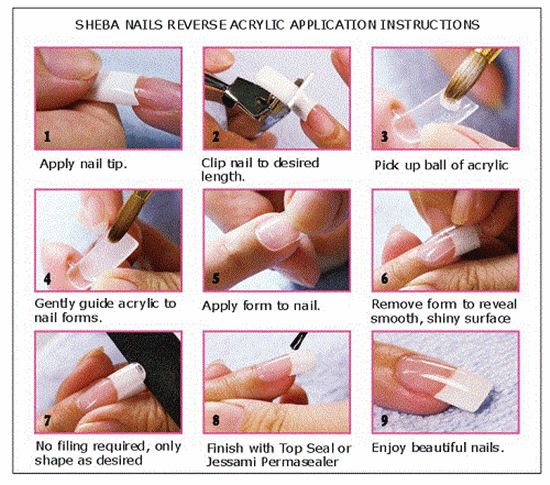 How to do Acrylic nail art step by step - image source www.inkyournail.com