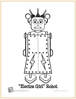 electra girl robot free coloring page httpmakingartfuncom