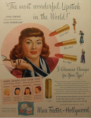 Max Factor: Vintage Makeup advertisements