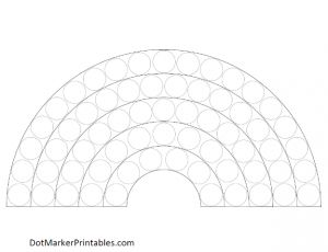 Free Dot Marker Printables: Rainbow - Dot Marker Printables