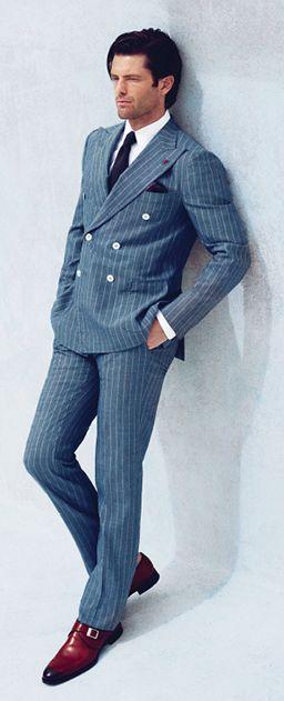 ダブルスーツ 着こなし グレー【2015最新】