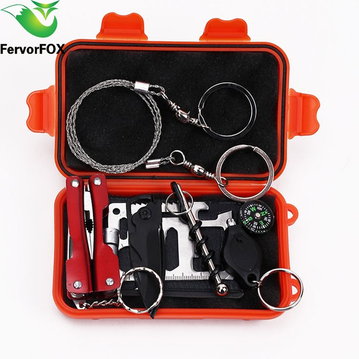 1 Set Outdoor Emergency Equipment SOS Kit First Aid Box Supplies Field Self-help Box For Camping Travel Survival Gear Tool Kits.