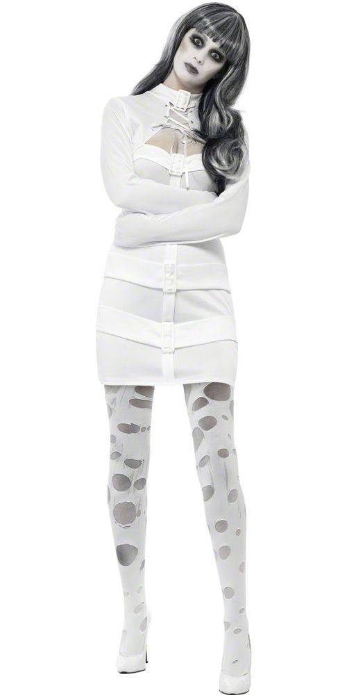 Womens Straight Jacket Costume Dress Straitjacket White Fancy Dress Adult NEW | Clothing, Shoes & Accessories, Costumes, Reenactment, Theater, Costumes | eBay!