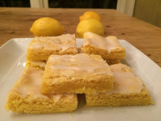 These lemon brownies are sweet, lemony, and delicious~and can be whipped up in no time!      This week, I decided to tweak one of my all time favorite recipe, these strawberry brownies, and see if a lemon version would be equally yummy. I followed the recipe for strawberry brownies but subst