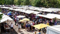 Berlin – Der Ekko von Schwichow Flohmarkt im Berliner Mauerpark ist Anlass für einen perfekten sonntäglichen Ausflug. (Quelle: srt)