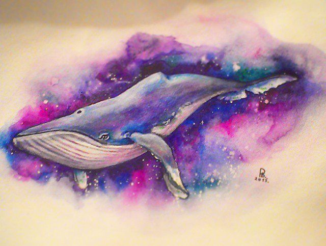 Space whale by Vally-Rij