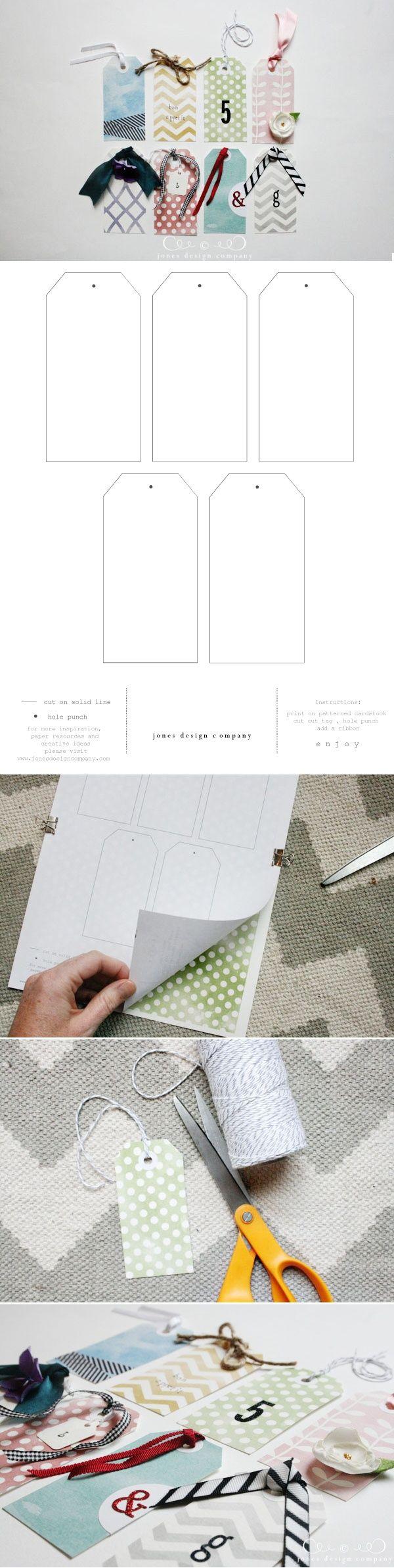 Price tag template free printable blank price tag template free - Embellished Gift Tags Free Printable Plain Tag Template Via Designeditor