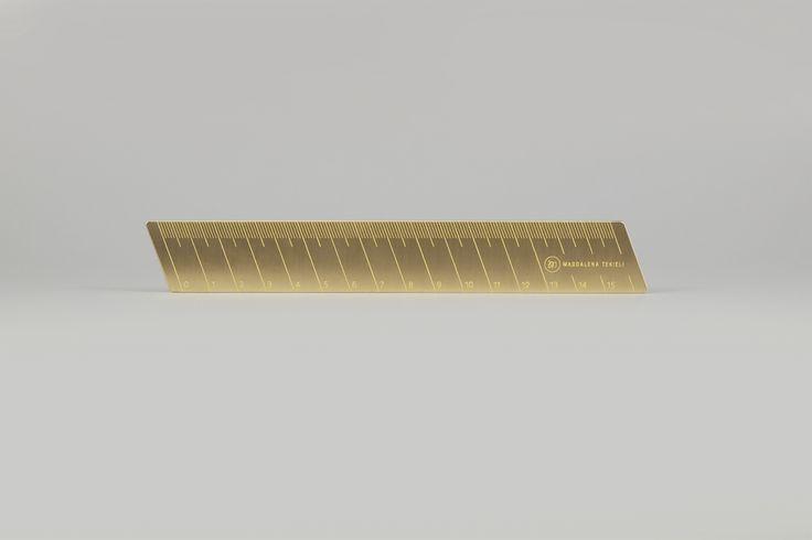 Brass Ruler by Magdalena Tekieli Design