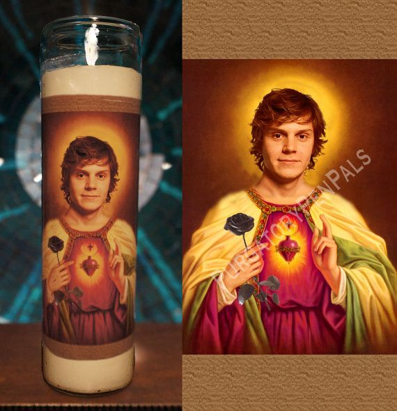 Saint Evan Peters Prayer Candle / Vigil Candle by PurgatoryPenPals