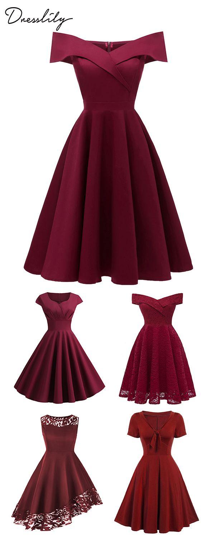 Vintage Dresses Retro Vintage Inspired Red Dresses Vintage Dresses Retro Dress Beautiful Outfits [ 1500 x 600 Pixel ]